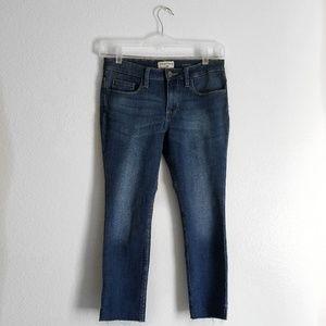 NWOT Crafted by Lee Raw Hem Skinny Crop Jean